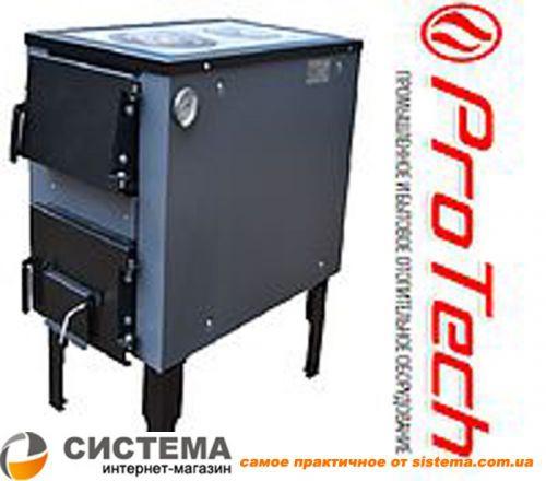 Котел твердотопливный ProTech ТТП 18C Lux ПБ (Тайга) с плитой